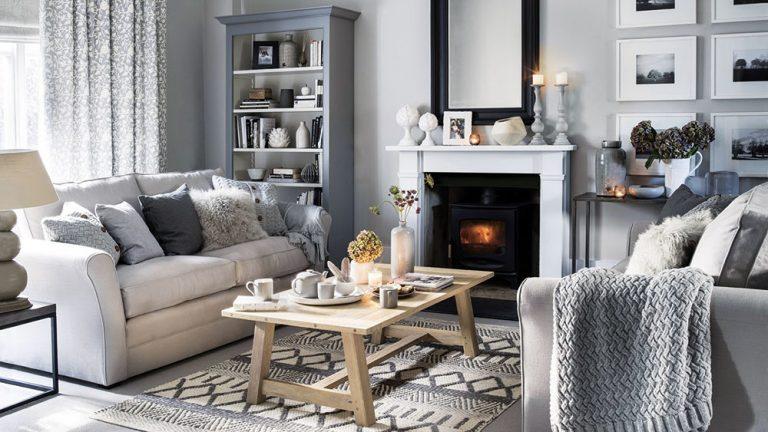 Obývacia izba v štýle hygge