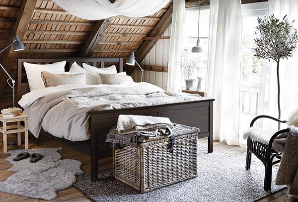 Spálňa v štýle hygge