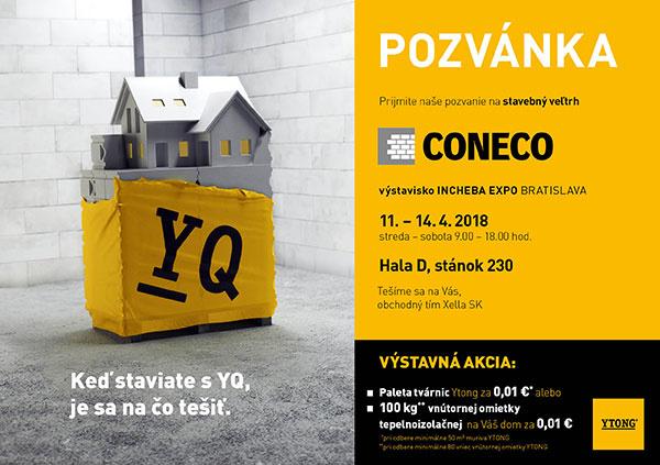 Kompletný stavebný systém Ytong opäť uvidíte na stavebnom veľtrhu CONECO