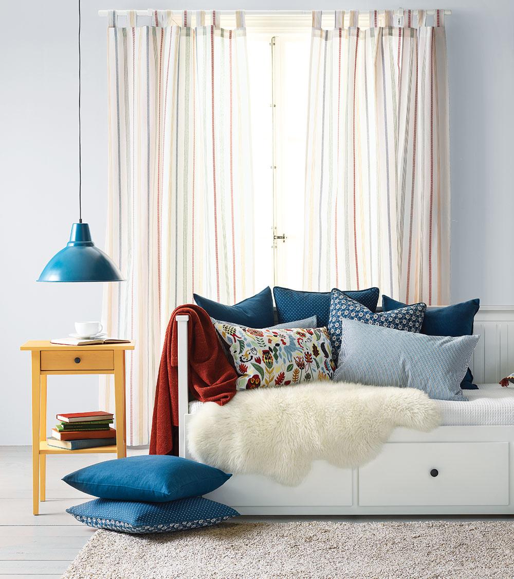 Poťah na vankúš LÖVKOJA so vzorom z18. storočia, 100 % bavlna, 50 × 50 cm, 3,99 €, IKEA
