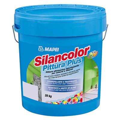 Silancolor® Pittura Plus  Finálny náter na báze silikónovej živice vo vodnom roztoku je určený na aplikáciu v interiéri a exteriéri. Je odolný proti rastu plesní a rias, priepustný pre vodné pary, vodoodolný.