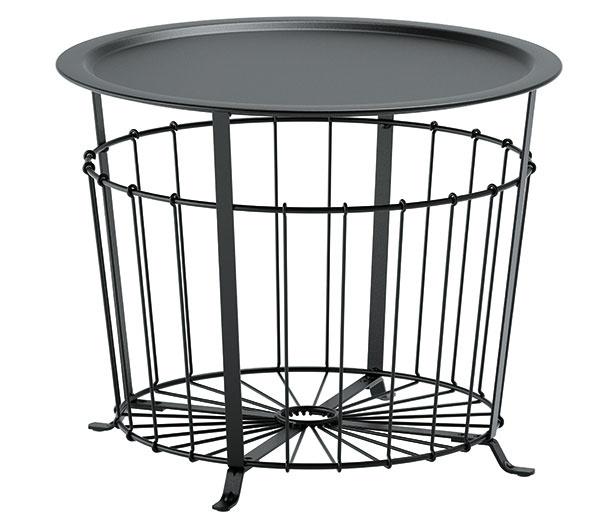 Drôtený GUALÖV, výška 47 cm, priemer 60 cm, oceľ, praktický úložný priestor, 49,99 €, IKEA