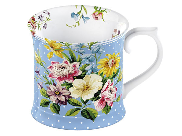 Modrý porcelánový hrnček Creative Tops English Garden, 350 ml, 12,49 €, www.bonami.sk