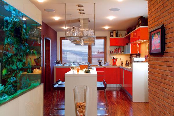 Byt na úpätí Malých Karpát s morským akváriom a vírivkou na terase
