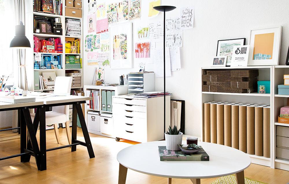 Veselý, nápaditý a farebný dvojizbový byt kreatívnej majiteľky