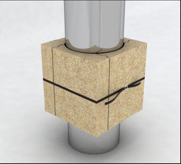 Ako urobiť bezpečný prechod komína strechou?
