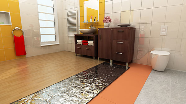 Čím vykurovať drevenú plávajúcu podlahu v kúpeľni?
