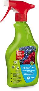 Folicur® AL  fungicídny prípravok na priame použitie postrekom k aplikácii bez riedenia určený na ochranu ruží a okrasných a izbových rastlín proti hubovým chorobám. Obsahuje stabilizátory pre dlhodobé a opakované použitie doma i v záhradke. Obsahuje dve účinné látky, preto je ochrana zabezpečená dvomi spôsobmi. Choroba je potlačená priamym pôsobením účinných látok, ktoré prenikajú do listov a následne sa vytvorí ochranný povlak na povrchu listov, čím sa zabráni novému rozvoju choroby.