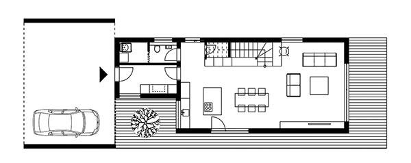 Projekt poschodového rodinného domu 1801
