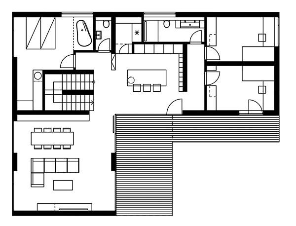 Projekt poschodového rodinného domu 1802