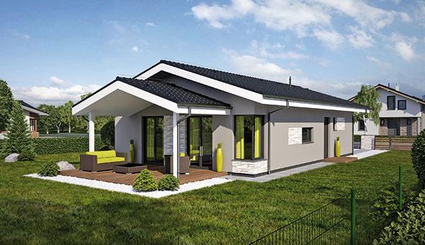 Projekt prízemného rodinného domu LAGUNA18N