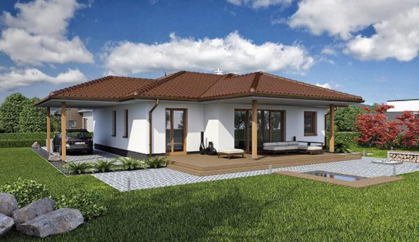 Projekt prízemného rodinného domu LAGUNA42