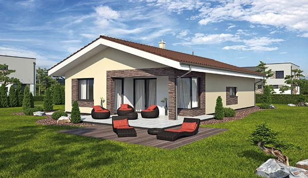 Projekt prízemného rodinného domu LAGUNA423