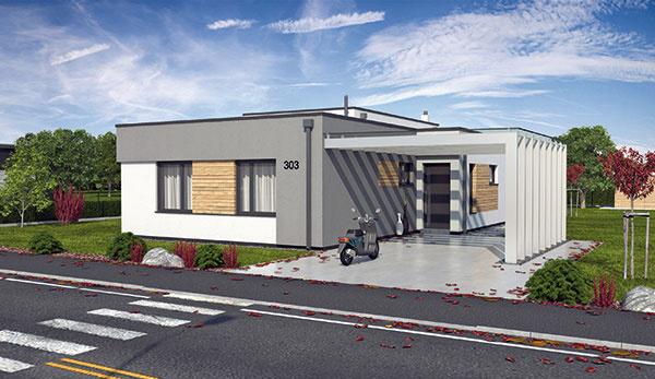 Projekt prízemného rodinného domu LINEAR 303