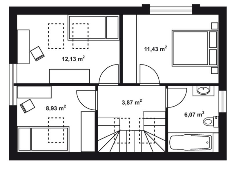 Projekt rodinného domu Blanka 46