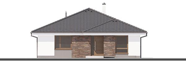 Projekt prízemného rodinného domu bugle