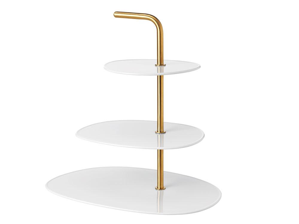 Podnos FÖRÄDLA, živicový porcelán, nehrdzavejúca oceľ, 23 × 34 × 33 cm, 17,99 €, IKEA