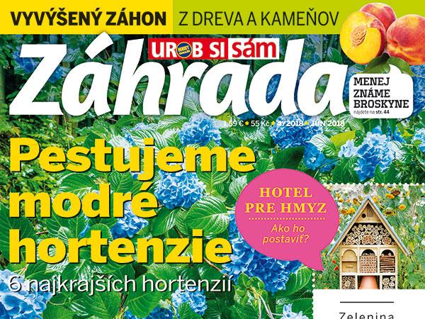 Najnovšie vydanie časopisu Záhrada č. 4/2018 v predaji