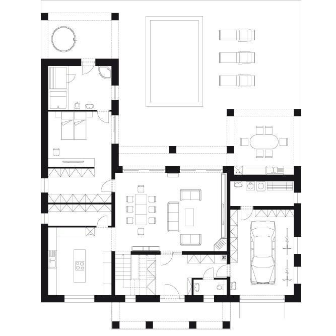 Projekt poschodového rodinného domu Javijani 79