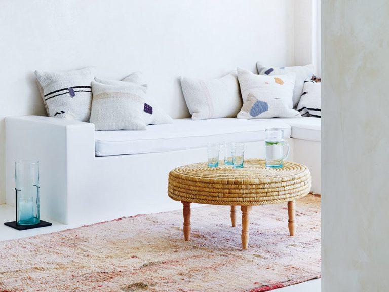 4 x obývacia izba v etno štýle