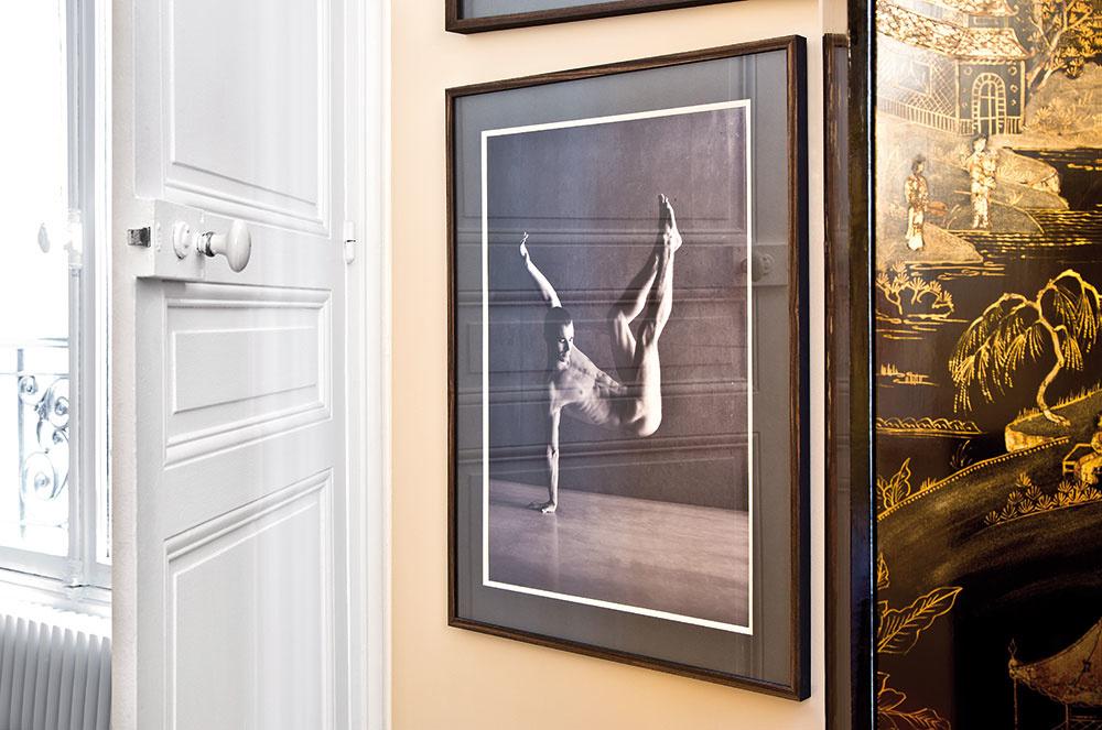 Steny bytu zdobia originály obrazov od umelcov ako Harding Meyerči Dawid C. Borrower. Alpha totiž okrem kníh zbiera i umenie.