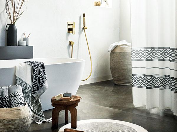 Etno kúpeľňa: Chladná, ale zároveň svieža