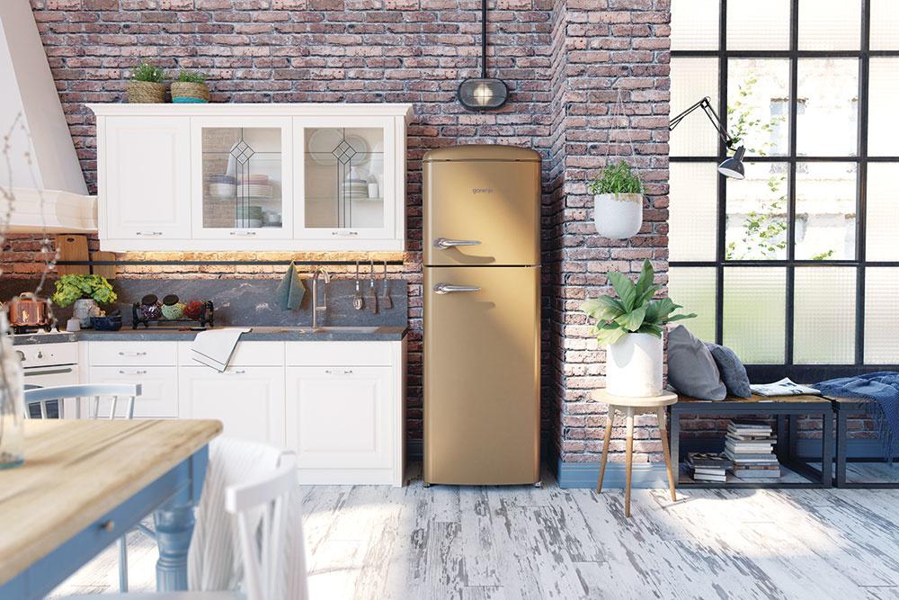 4 VÝBER SPOTREBIČOV  Už pri projekte domu musíte mať jasnú predstavu otom, kde bude najvhodnejšie umiestnenie vody, elektrických zásuviek, plynu aj odvodu digestora, ato tak, aby bola vaša kuchyňa nielen pekná, ale aj funkčná. Pri spotrebičoch máte na výber: voľne stojace alebo zabudovateľné. Voľne stojaca chladnička je výhodnejšia, pretože má väčší objem arôznu ponuku veľkostí. Pri vstavaných chladničkách máte značne obmedzené možnosti. Sporák iumývačka riadu sú lepšie zabudované – výhodou je ich kompaktnosť anadväznosť na kuchyňu. Menšie spotrebiče zohľadnite vzávislosti od možnosti priestoru.