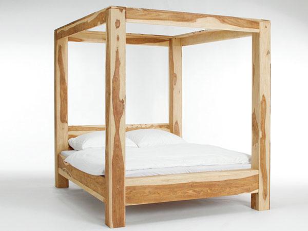 posteľ snebesami, palisandrové drevo, 180 × 200 cm, 1 315 €, www.evalin.cz