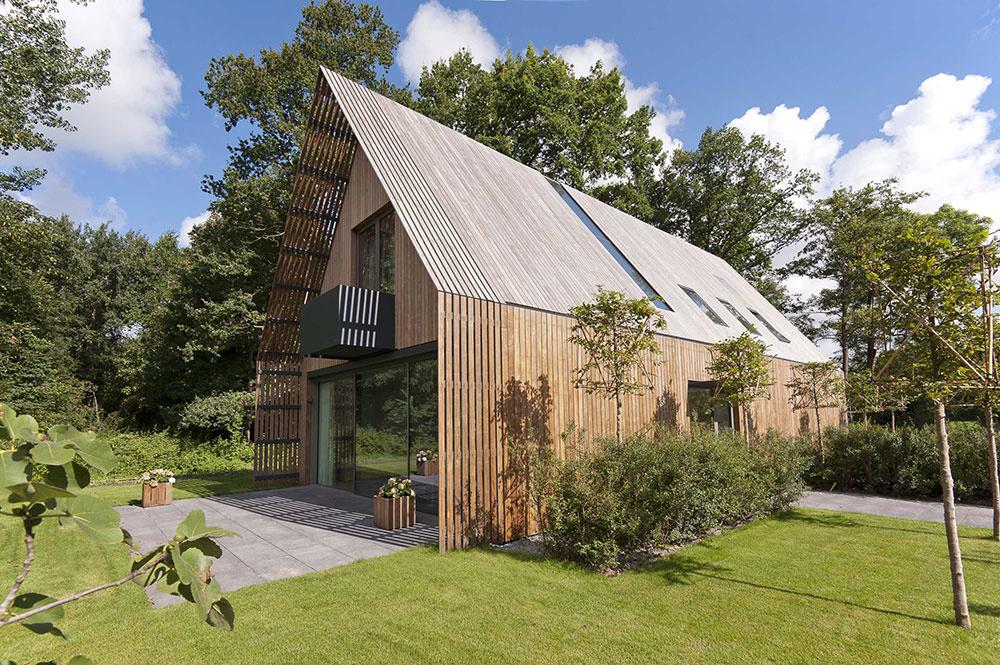 Vzdušný a ľahký dom pri lese plný svetla