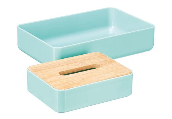 Dvojdielny organizér do kúpeľne, plast, drevo, 6,49 €, KiK