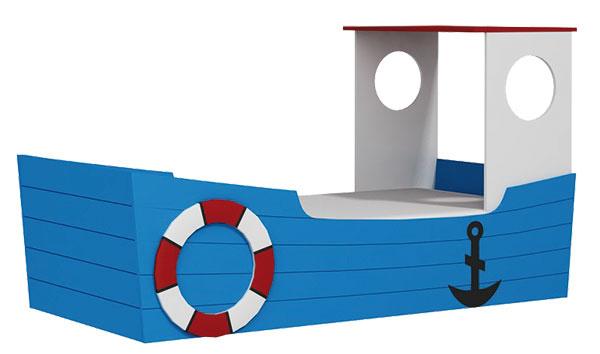 Posteľ Loď, pre matrac 180 × 90 cm, vysokokvalitná lamino doska, 343,40 €, www.detska-postel.sk