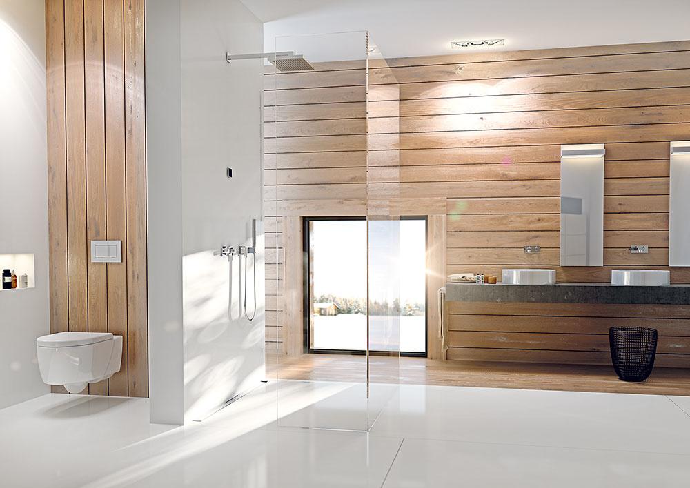 Spolu alebo oddelene? Ak sa rozhodnete pre spojenie kúpeľne aWC, uvažujte aj omožnosti optického oddelenia. Šikovná môže byť napríklad inštalačná stena vpriestore. Môžete ňou toaletu diskrétne oddeliť azároveň do nej zabudovať splachovaciu nádržku aj skryť potrebné rozvody. www.geberit.sk