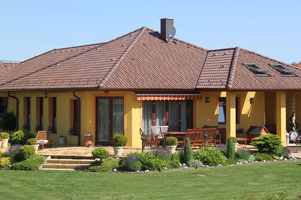 Štýlová viacfarebná strecha