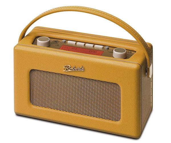 Retro rádio Roberts Radio Revival, dostupné v ôsmich odtieňoch, žlté, 204,70 €, www.cjhampshire.co.uk