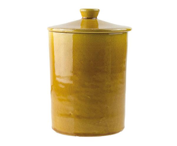 Dekoračná dóza Arai Yellow, keramika, výška 13 cm, priemer 8 cm, 16,90 €, www.westwing.sk
