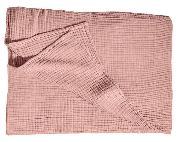 Prikrývka na posteľ, bavlnený mušelín, 180 × 250 cm, 69,99 €, www.hm.com/sk