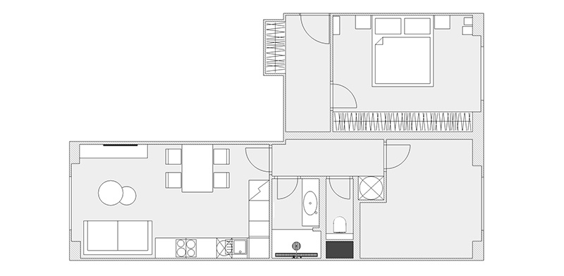 Starší byt dostal nový, jemne industriálny vzhľad