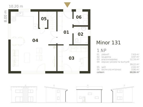 poschodový rodinný dom Mirnor 131