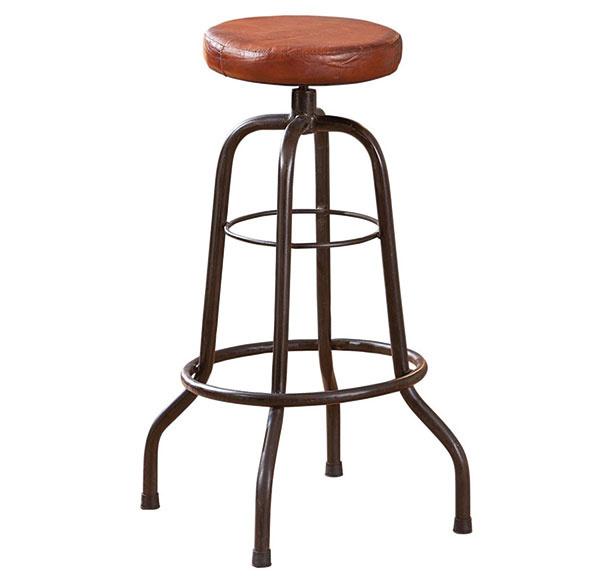 Barová stolička Longo, v retro štýle, koža, ručná výroba, 90 × 50 ×180 cm, 118 €, www.idea-nabytok.sk
