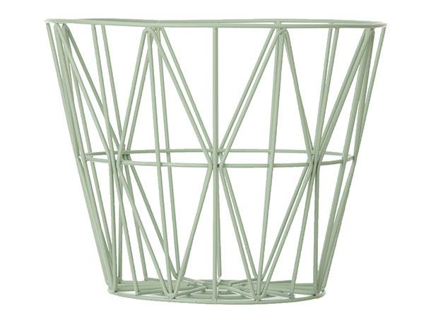 Kôš Mint – large od značky Ferm Living, kovový drôt, výška 46 cm, 92,78 €, www.nordicday.sk