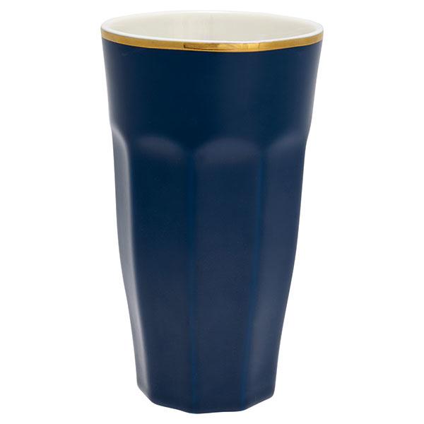 Pohár na caffé latte French dark blue, porcelán, priemer 8,5 cm, výška 15 cm, 13,56 €, www.glami.sk