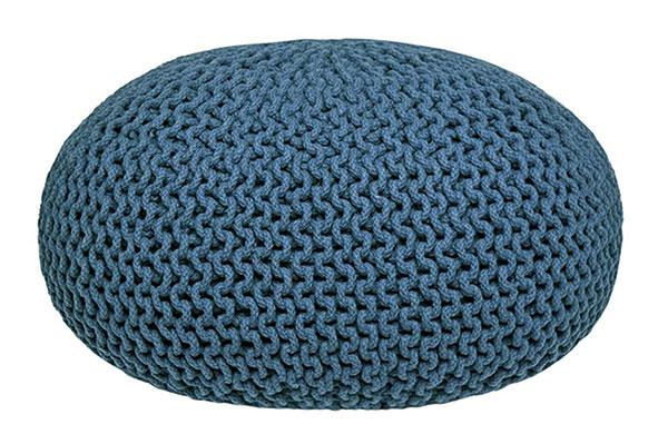 Puf Knitted XL od značky Label51, bavlna, 70 × 35 × 70 cm, 101 €, www.bonami.sk