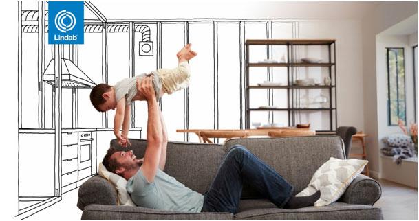 Zdravé a úsporné vetranie rodinného domu s rekuperáciami Lindab