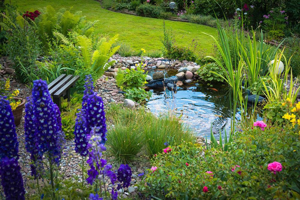 Prírodné jazierko ako súčasť záhrady