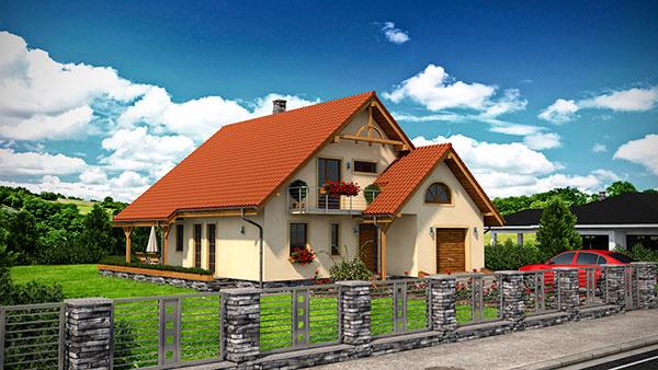 Projekt poschodového rodinného domu RM 127