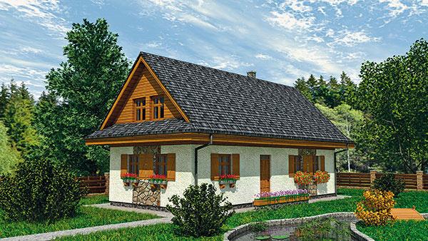 Projekt prízemného rodinného domu RM 78