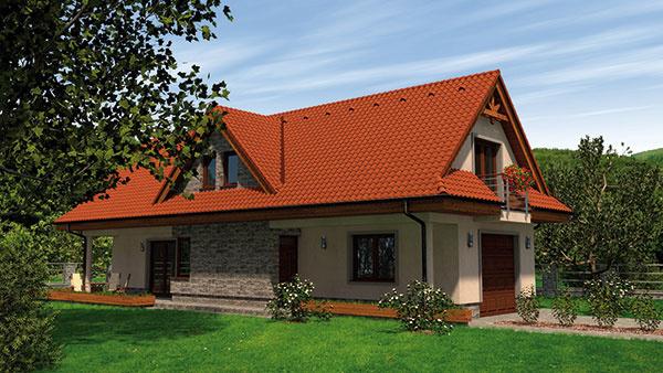 Projekt prízemného rodinného domu RM 85 XL