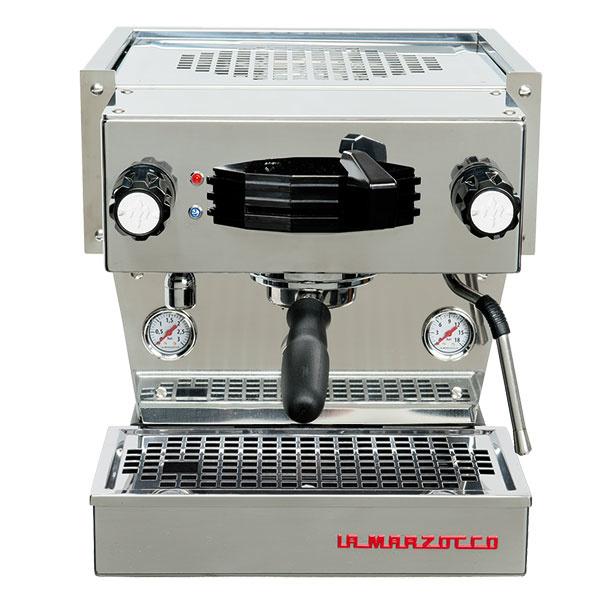 Profesionálny espresso kávovar Linea Mini od značky LA MARZOCCO, objem zásobníka na vodu 2 l, 35,7 × 37,7 × 45,3 cm, 4 506 €, www.dobrakava.eu