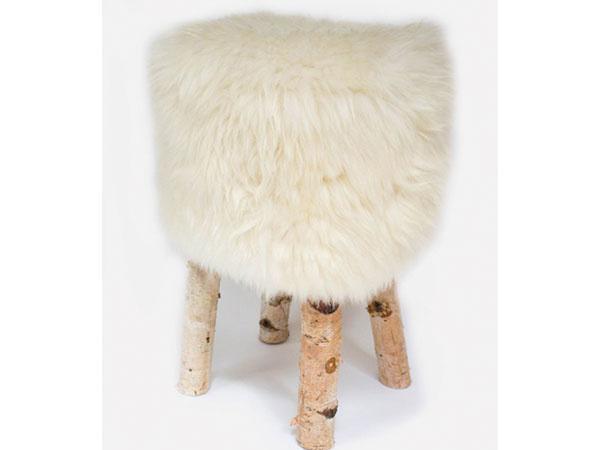 Luxusné kreslo z bielej ovčej kože, 99,99 €, ovciakozusina.sk