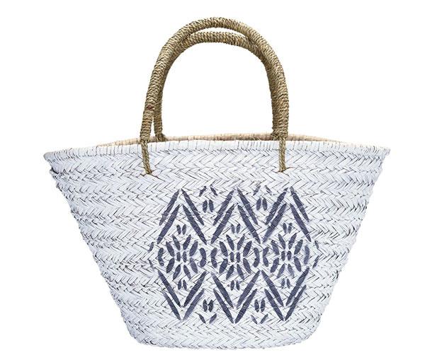 Slamená taška Kaya white, 51,11 €, www.bellarose.sk